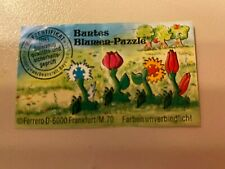 Buntes Blumen Puzzle Beipackzettel Ferrero Ü-Ei