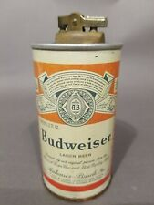 Vintage Budweiser Steel Beer Can Cigarette Lighter Flat Top 1973 Very Rare,