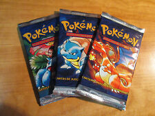 3x SPANISH Pokemon BASE Set Booster Card Pack Charizard Blastoise Venusaur Box