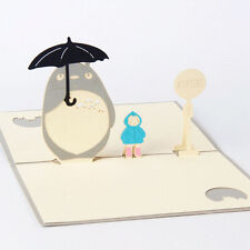 3D Pop Up Cards My Neighbour Totoro Greeting Birthday Cards for All Occasions