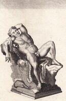 Gravure XVIIIe Bacchus Dormant Βάκχος Bákkhos Bacco Dyonysos Liber Pater 1780