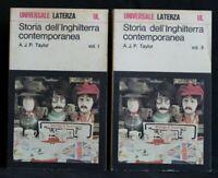 STORIA DELL'INGHILTERRA CONTEMPORANEA. 2 volumi. Taylor. Laterza.
