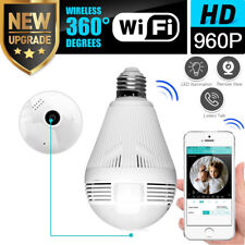 360° Panoramic 960P SPY Hidden wifi Camera Light Bulb Home Security IP CAM Lamp