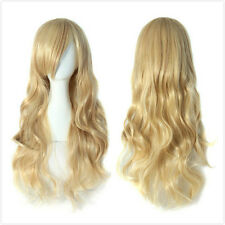 Women's Sexy Long Wavy Curly Blonde Costume Party Hair Wig/Wigs Cosplay