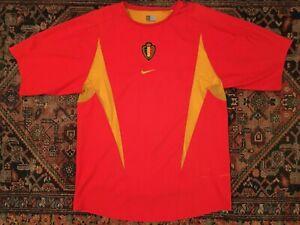 BELGIUM 2002 2003 2004 HOME FOOTBALL SOCCER SHIRT JERSEY CAMISETA MAGLIA NIKE M