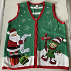 Holiday Time 1X (16W) Christmas Vest Ugly Christmas Sweater