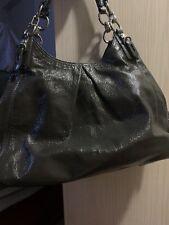 COACH Madison Maggie Mia F1073-15734 WINE BURGUNDY Patent Leather Hobo Tote Bag