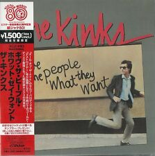 MINI LP CD VYNIL RÉPLICA IMPORT + OBI THE KINKS / GIVE THE PEOPLE WHAT THEY WANT
