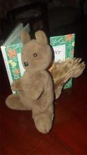 vintage STUFF TOY SQUIRREL ~*HEAD TURNS nice & soft AGE UNKNOWN hard eyes & nose