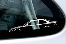 2x car silhouette stickers - For BMW e36 325i ,328i , m3 3-Series coupe