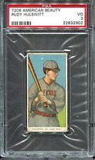 1909-11 T206 American Beauty Rudy Hulswitt PSA 3 St. Louis ONLY 7 Total Graded