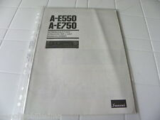 Sansui A-e550 /750 Owner's Manual Operating Instructions istruzioni