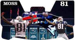 Custom New England Patriots Randy Moss Football Helmet Visor, W/ Unbranded Clips