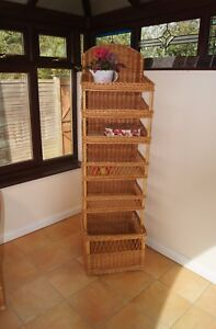 Floor Wicker Shop Stand Display Natural