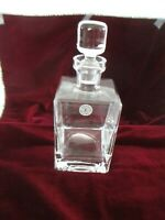 HAND BLOWN GLASS DECANTER w/STOPPER by THINGS REMEMBERED - ENGRAVED ETCHING