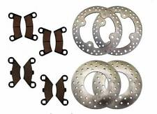 2009 2010 2011 2012 Polaris 800 Razor RZR S Front & Rear Rotors And Brake Pads