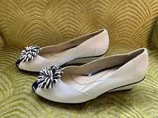 Van Dal White And Blue Flat Wedge Size 3.5