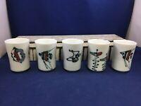 Vintage Otagiri OMC Japanese Cups Set of 5 Tea Cups Mid Century