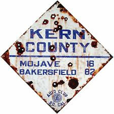 Kern County Auto Club So.Cal. Highway Sign