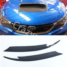 Matt Black Front Headlight Cover Eyelid Eyebrow for Subaru Impreza 10th 08-11