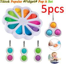 5 Pack Fidget Sensory Toys Zappeln Spielzeug Set Stressabbau ADHS Simple Dimple