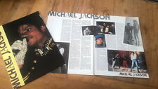 MICHAEL JACKSON 'glove' 3 page UK ARTICLE / clipping