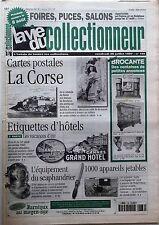 La Vie du Collectionneur n°186-  Appareils jetables Etiquettes d'Hôtels La Corse