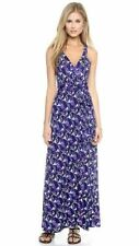 SZ 6 Diane Von Furstenberg DVF Samson Blue River Wrap Maxi F/L Silk Dress $548