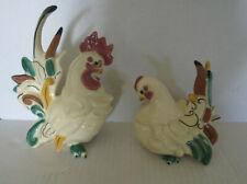 Beautiful Vintage Kay-Finch Rooster & Hen (L-D)