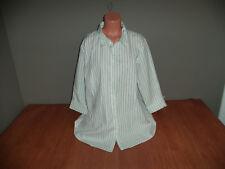 New Womens Plus Size 2X Motherhood Maternity White Striped Blouse Shirt Top @