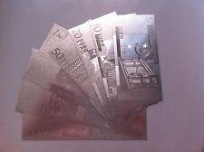 7 BILLETES EURO PLATA 99,9 % SILVER PURE - INCLUYE CERTIFICADO DE AUTENTICIDAD /