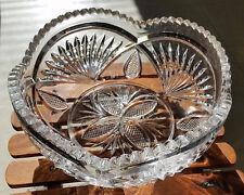 Antique Vintage EAPG Clear Glass Heavy Large Fruit Centerpiece Bowl Brilliant