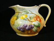Pouyat Limoges Hand Painted Berry Pitcher early 20th c