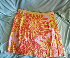 Anthropologie Edme & Esyllte Fire Bloom Linen Blend Skirt 12 EX Con Fast FREE Sh