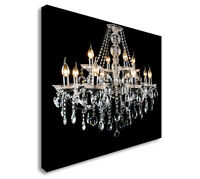 Contemporary Glass Chandelier Canvas Wall Art Picture Print