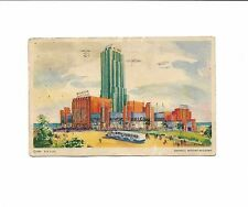 A Century Of Progress General Motors Chicago Worlds Fair Postcard & Stamp 1933