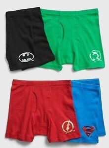 New Gap Kids 4 Pack Boxer Briefs Underwear 5 6 7 8 10 12 14 DC Batman Superman