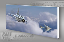 F.6 Lightning 5sqn QRA with TU-95 Bear CANVAS PRINT, Digital Artwork.