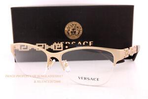 Brand New VERSACE Eyeglass Frames VE 1270 1410 Matte Gold For Women 54mm