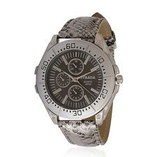 Watch Men Women Unisex Snake Skin Design Band Designer Watch Steel Japan Move