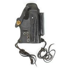 U.S. Walther P-22 Black Leather Holster with Magazine & Silencer Pockets