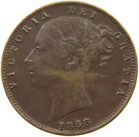 GREAT BRITAIN FARTHING 1858 VICTORIA #t73 211