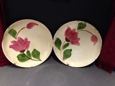 """Stetson Rio Pink Tulip 6"""" Southern Pottery 2 hand painted sausers"""