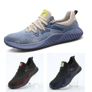 Mens Womens Ultra Light Metal breathable Toe cap Safety Trainers Work Shoes