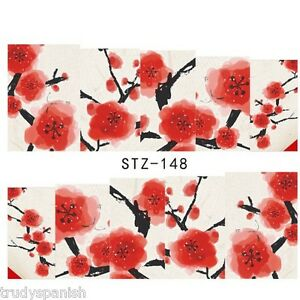 Nail Art Water Decals Full Wraps Remembrance Poppy Armistice Day Flowers stz148