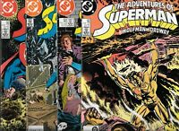 Adventures of Superman #432, #433, #434 & #435   Lot of 4  (1987, DC Comics)