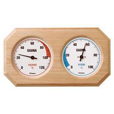 eliga Hygrom/ètre rond pour sauna Blanc 120 mm x 155 mm