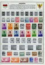 Indonesia collection, mint Lh and a few used, 150 different, plus propaganda
