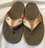Sperry top-sider, Men Flip Flops, As 7M, Brown, Leather