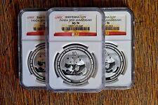 2009  NGC MS 70 China Silver Panda 1 oz 30th Anniversary Commemorative Coin
